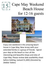 2017 #15 Live Auction Poster (Cape May)