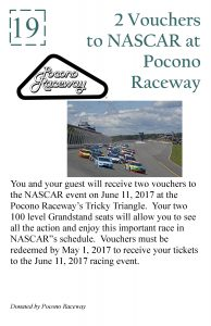 2017 #19 Live Auction Poster (Pocono Raceway)